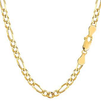 14 k gul Solid guld Figaro kæde armbånd, 3,8 mm