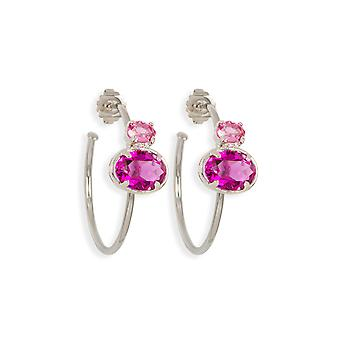 Multicolor earrings with crystals from Swarovski 485