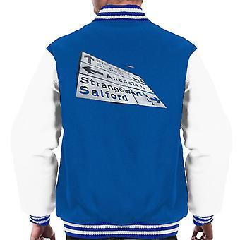 Manchester Road Signs 1985 Men's Varsity Jacket