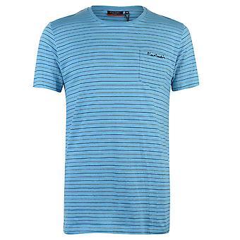 Pierre Cardin Mens Pinstripe T Shirt Crew Neck Tee Top manches courtes coton