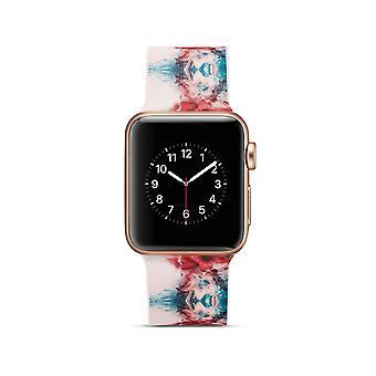 Klockrem silicone pour Apple Watch 4 40 mm, 3/2/1 38 mm-colorisée Pattern