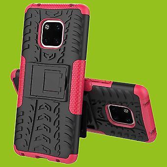 Para Huawei companheiro pedaço de caso 2 20 híbrido proteção de capa case SWL exterior bolsa rosa