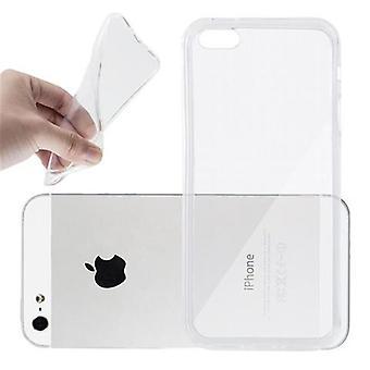 Cadorabo Case voor Apple iPhone 5/iPhone 5S/iPhone SE gevaldekking-telefoon geval in flexibele TPU silicone-silicone geval beschermende case ultra slanke zachte terug Cover Case bumper