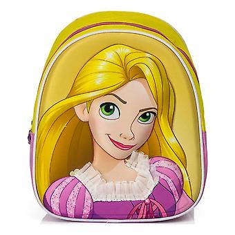 Disney Princesa Rapunzel Mochila Junior 3D Motivo Escuela Bolsa 27x23x10cm