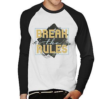 Brechen der Regeln Herren Baseball T-Shirt Langarm