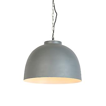 QAZQA Industrial hanging lamp gray with white inside 45.5 cm - Hoodi