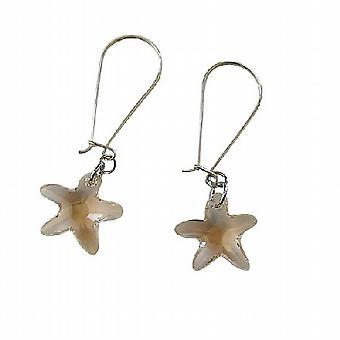 بلورات النجوم الأسماك الظل الذهبي فضة الطوق أقراط.