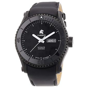 CAPA Watches CA2196BK-BK-wrist watch, man, skin, colour: black