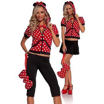 Costume adulte rouge Minni souris