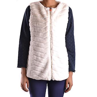 Save The Duck Ezbc081003 Women's White Nylon Vest