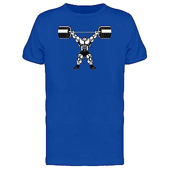 Muscular Dude Lift Barbell Tee Men's -Image by Shutterstock