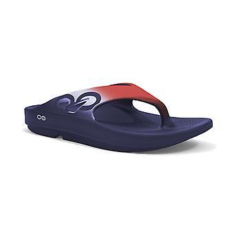 OOFOS deporte Ooriginal tanga adultos sandalias Unisex - rojo/blanco/azul