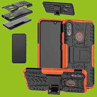 Para Samsung Galaxy A50 A505F/A30s A307F Hybrid Case 2Part Outdoor Orange Cover Cover Protection