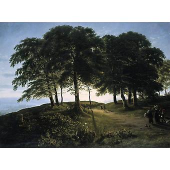 Ochtend, Karl Friedrich Schinkel, 50x37cm