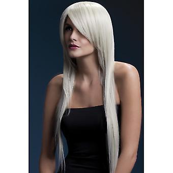 Feber rav paryk blond langhåret paryk