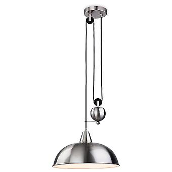 Firstlight-1 licht opkomst & val plafond hanger geborsteld staal-2309BS