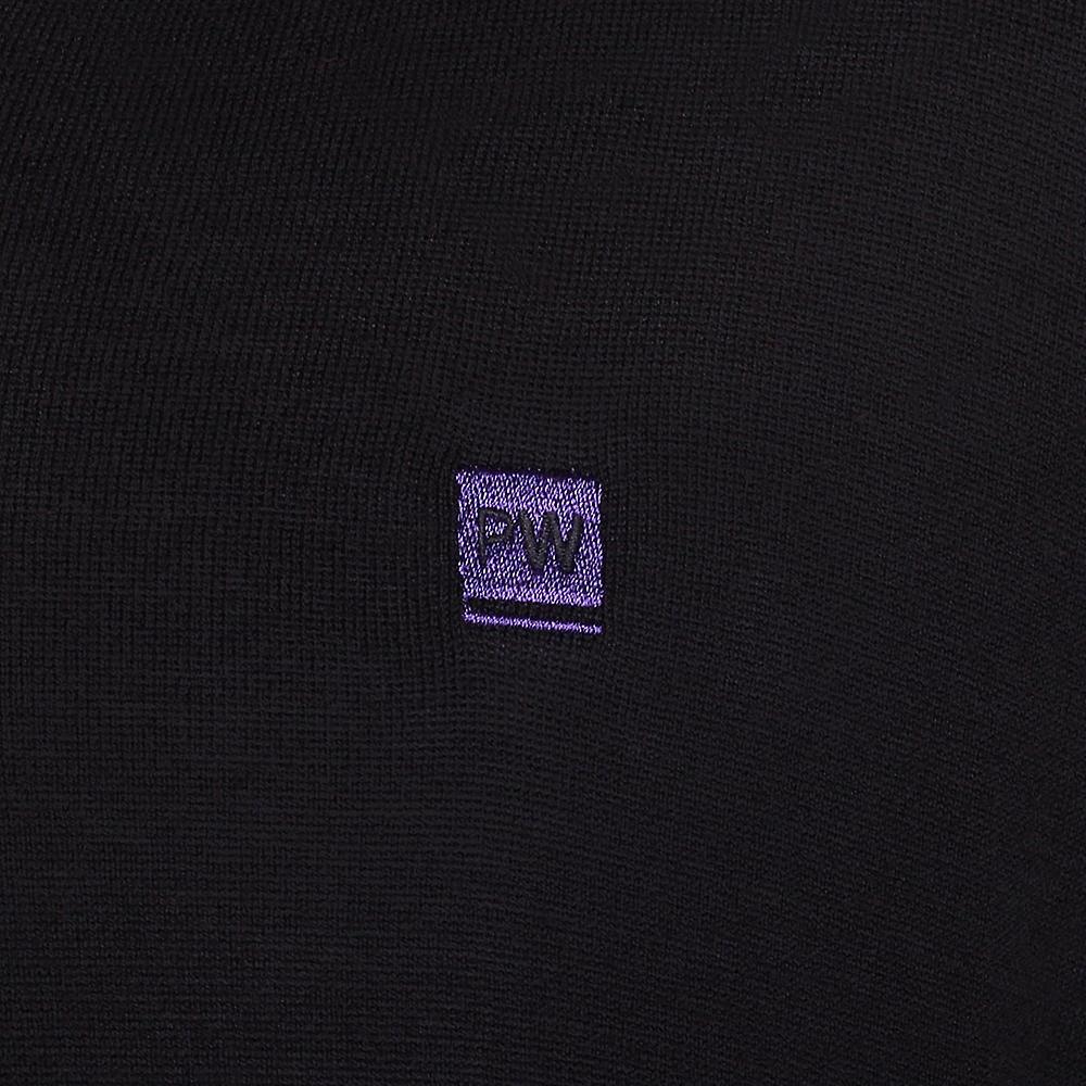 Peter Werth Long Sleeve Insert V-Neck Jumper,Black