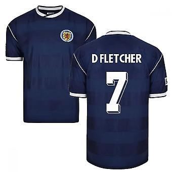 Score Draw Scotland 1986 Retro Football Shirt (D Fletcher 7)