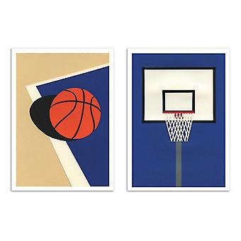 2 Art-Posters - Duo Oakland Basketball Team - Rosi Feist