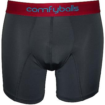 Comfyballs Microfibre Boxer Brief, Steel/red