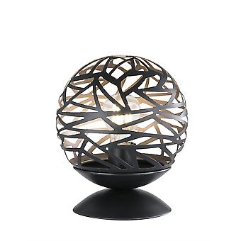 Wofi Table Lamp Rachel 1 Light Black Gold