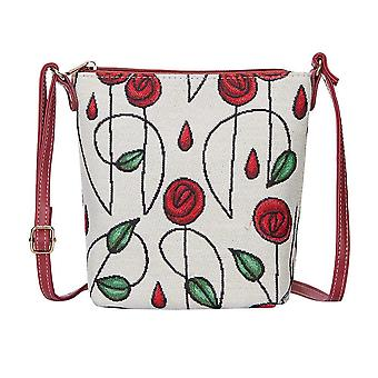 Mackintosh - simple rose shoulder sling bag by signare tapestry / sling-rmsp