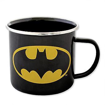 Batman cup email cup zwart, bedrukt, gemaakt van staalplaat, geëmailleerd, socket ÷gene 450 ml.
