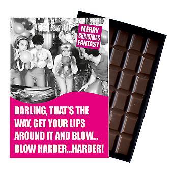 Śmieszne Boże Narodzenie prezent dla kobiet żona lub dziewczyna w pudełku czekolada powitanie karta obecny CDL161