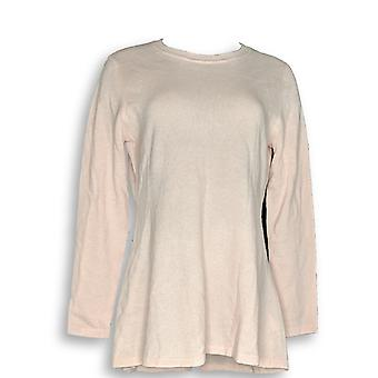 Isaac Mizrahi Live! Women's Suéter 2-Ply Cashmere Light Pink A292405