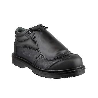 Centek Mens FS333 Lace Up Safety Shoe Black