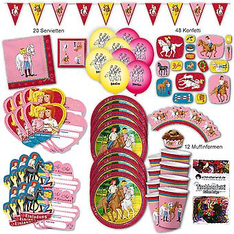 Bibi and Tina party set XL 118-teilig 6 guests Bibiparty kids birthday party package