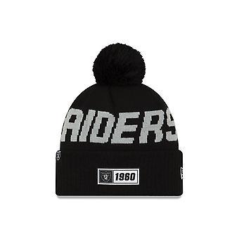 Nieuwe tijdperk op veld Sport Knit RD Beanie ~ Oakland Raiders