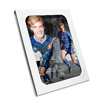 Kerry Dixon Signed Chelsea Photo In Gift Box