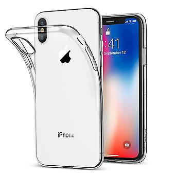 Transparent TPU Shell + 2pcs screen protector for iPhone XR