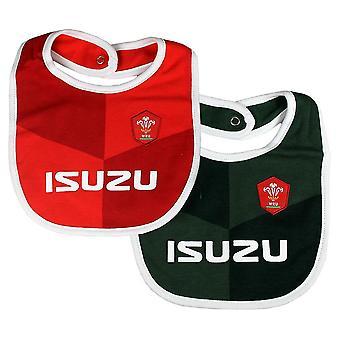 Wales RU Baby Bibs (Pack Of 2)