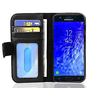 Cadorabo Case for Samsung Galaxy J7 2017 Case Cover - Phone Case with Magnetic Closure and 3 Card Slots - Case Cover Case Case Case Case Case Book Folding Style