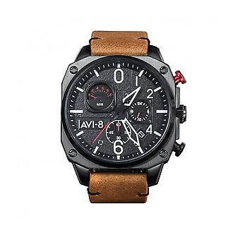 AVI-8 - Wristwatch - Men - Hawker Hunter AV-4052 - AV-4052-02 - Marron