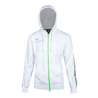 Xbox hoodie team Xbox logo nya officiella Mens vit zippade