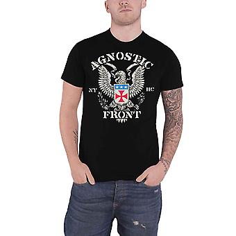 Agnostic Front T Shirt Eagle Crest Band Logo new Official Mens Black