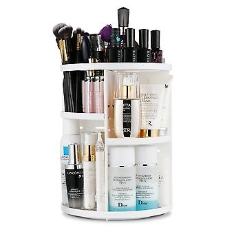 360 Degree Rotatable Make-up Organizer Cosmetic Organizer Multifunctional Storage Box - 7 Adjustable Levels !