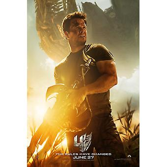 Transformers Age Of Extinction Original Movie Poster - Double Sided Advance Style A