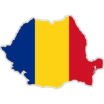 Pegatina Adhesif Vinilo Car Flag Mapa Rumania