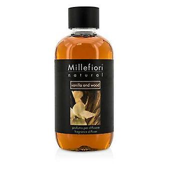 Millefiori Natural Fragrance Diffuser Refill - Vanilla & Wood - 250ml/8.45oz