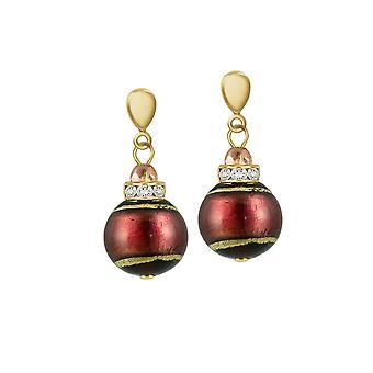 Éternelle Collection Grazia bicolore AMETHYSTE vénitien en verre de Murano goutte Clip boucles d'oreilles