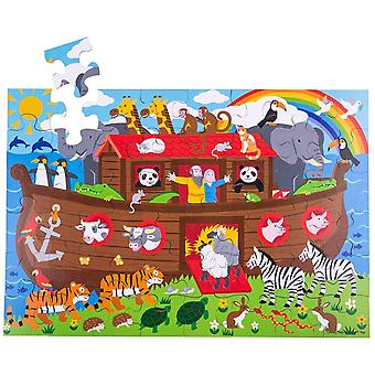 Bigjigs Wooden Noah's Ark Floor Jigsaw Puzzle (48 Piece)