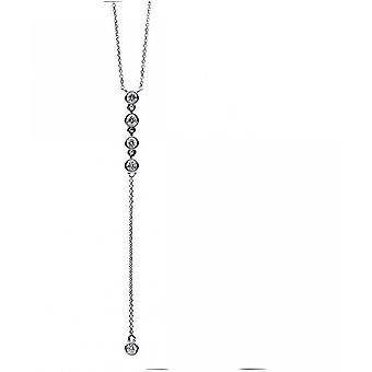 Diamond Collier Collier - 14K 585/- White Gold - 0.19 ct.