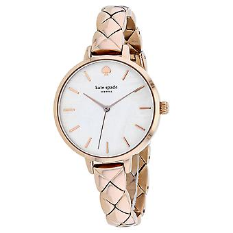Kate Spade Women's Metro White Mother of Pearl Dial Watch - KSW1466