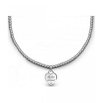 QUINN - necklace - ladies - silver 925 - diamond - 270579