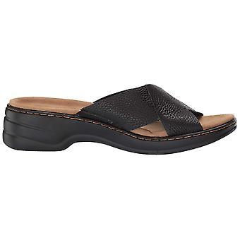 Trotters Womens Nova Leather Open Toe Casual Slide Sandals
