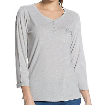 Roxy Henley Long Sleeve T-Shirt in Heather Grey